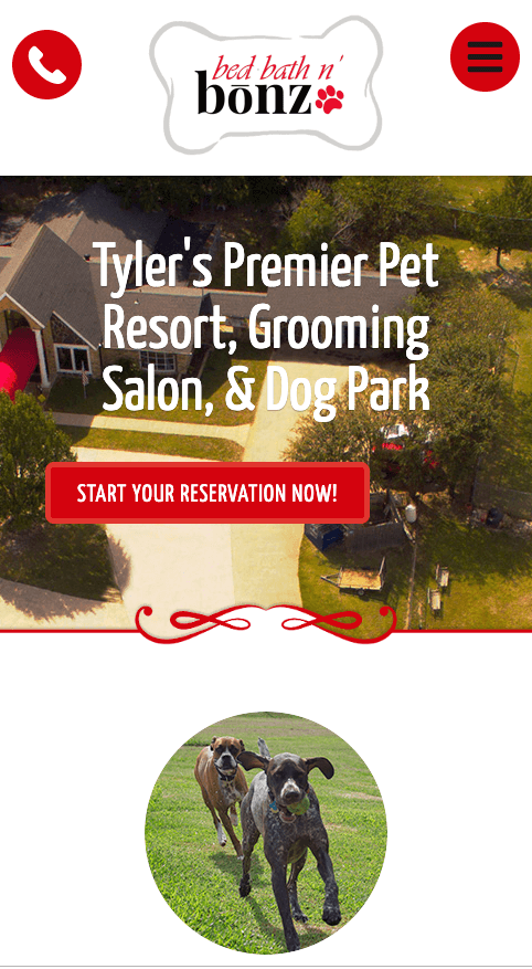 Have a clear CTA on your pet business mobile website