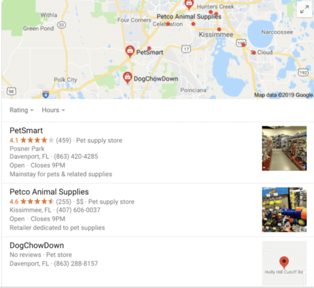Make sure your pet business shows up on local search