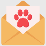 This image shows a letter with a paw print inside, illustrating the importance of marketing your business through your dog daycare software.