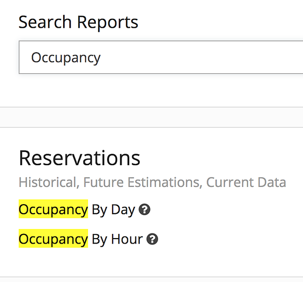 Explore your scheduling needs by occupancy.